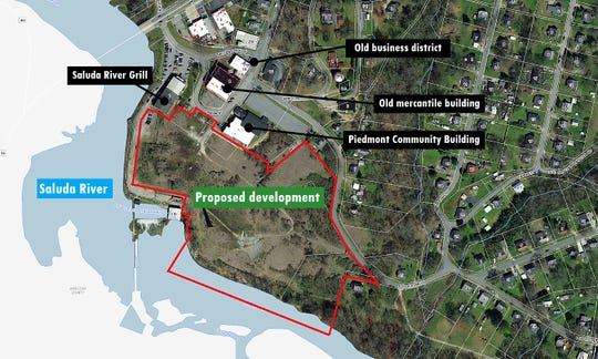 A Greenville developer has proposed building a mix of townhouses and businesses where the old Piedmont Mill One once stood along the Saluda River in Piedmont. As of late July 2019, the developer was negotiating the purchase of about 11.5 acres from multiple property owners and working with the state health department to make sure there are no environmental problems on the site.