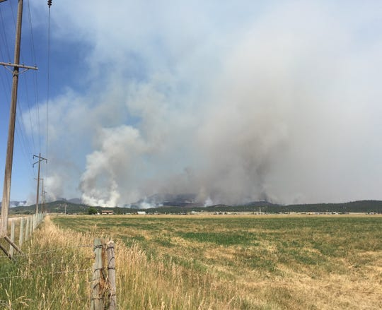 The North Hills Fire north of Helena is threatening 600 homes.