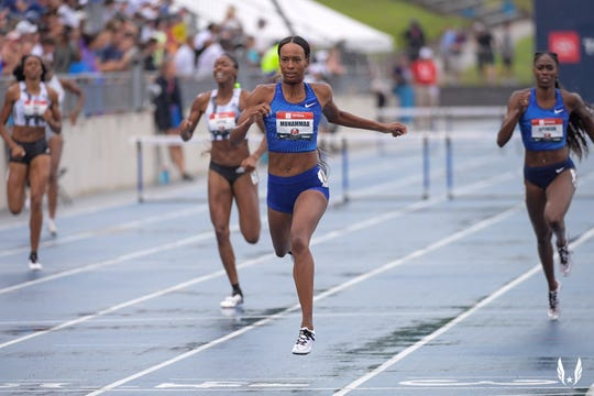 Dalilah Muhammed sets a world record at USA Championships
