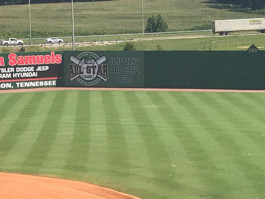 The Jackson Generals unveiled the banner announcing the coming 2020 Southern League All-Star Game on their centerfield wall on Monday, July 29, 2019.