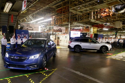 Subaru of Indiana begins production on 2020 Legacy and Outback models