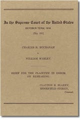 William Warley and Charles Buchanan challenged Louisville's residential segregation law in 1916 before the U.S. Supreme Court.