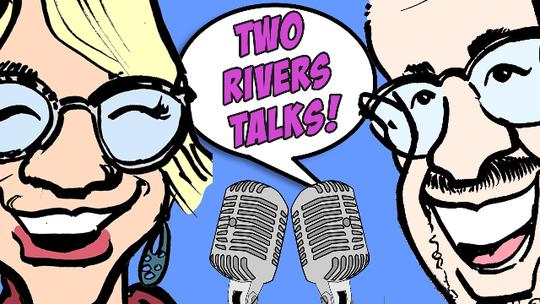 Two Rivers Talks logo