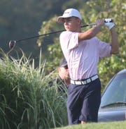 Gahanna High School's Mitchell Soma is at the top of the leaderboard for the 17-18-year old age group with a 76 after Day 1 of the Richland County Junior Golf Tournament at Twin Lakes Golf Course.
