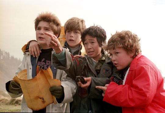 "Goon squad: Corey Feldman, Sean Astin, Jonathan Luke Ke Huy Quan and Jeff Cohen are among ""The Goonies."""