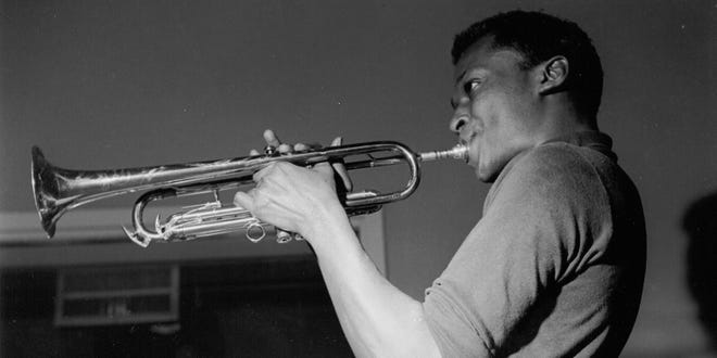"""Miles Davis is among the jazz geniuses who blow, man, blow in """"Blue Note Records: Beyond the Notes,"""" which screens Friday and Sunday at All Saints Cinemas."""