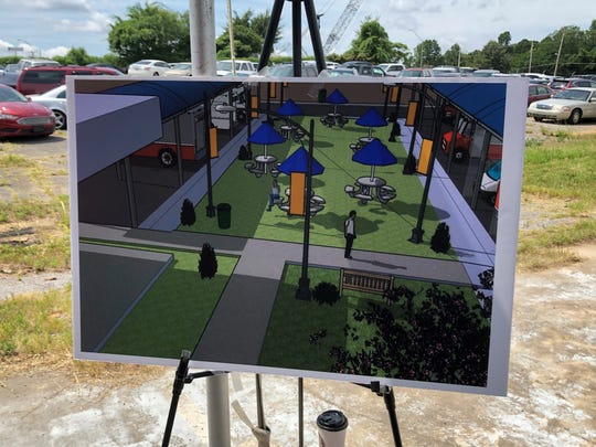 Space for food trucks and a seating area are included in plans for a farmers market and community center in Raleigh.