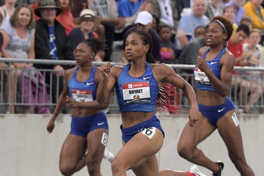 Former Milwaukee Bradley Tech star Dezerea Bryant won the women's 200 meters in 22.47 seconds at the USA Track and Field Championships on Sunday in Des Moines, Iowa.