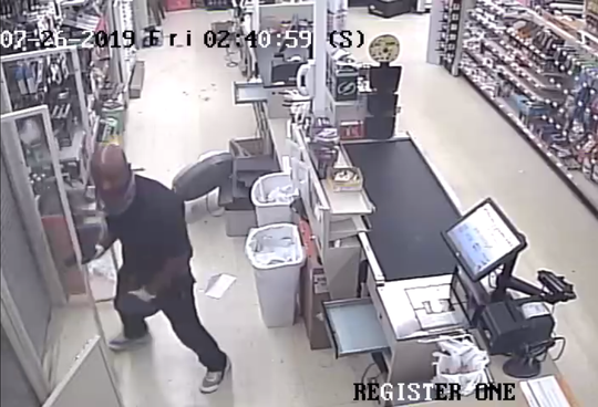 Milwaukee police are looking to identify this man after he broke into a business.