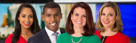 "Meteorlogist Lindsey Slater (right) joins ""WISN 12 News This Morning"" Aug. 26. Already on the morning newscast (from left): Eden Checkol, Sheldon Dutes and Adrienne Pedersen."