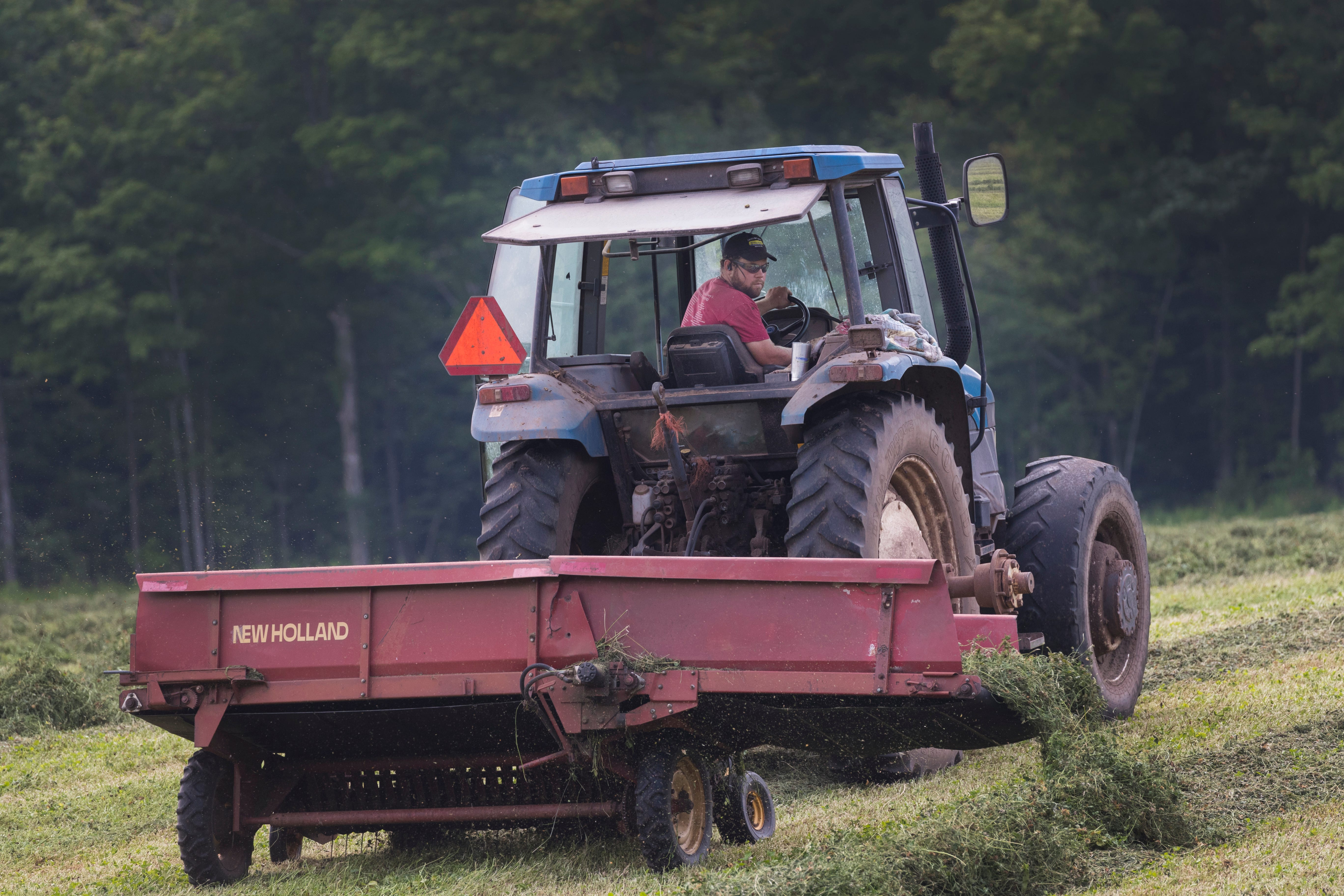 Tractor Farming Born To Drive a New Holland Forced To Go To School Kids