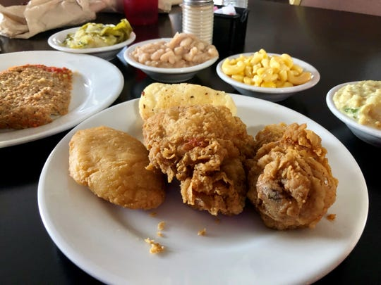 The fried chicken and hot water cornbread are awesome at Jeff's Family Restaurant in Murfreesboro, Tenn.