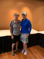 Overall winners of the Alto Ladies Golf Association match play tournament Brenda Hawthorn and Audrey Johnson.