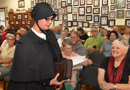 Amanda Boutte portrays Sister Mary Irene, New York Foundling Hospital founder, in a presentation Saturday at the Opelousas Orphan Train Museum.