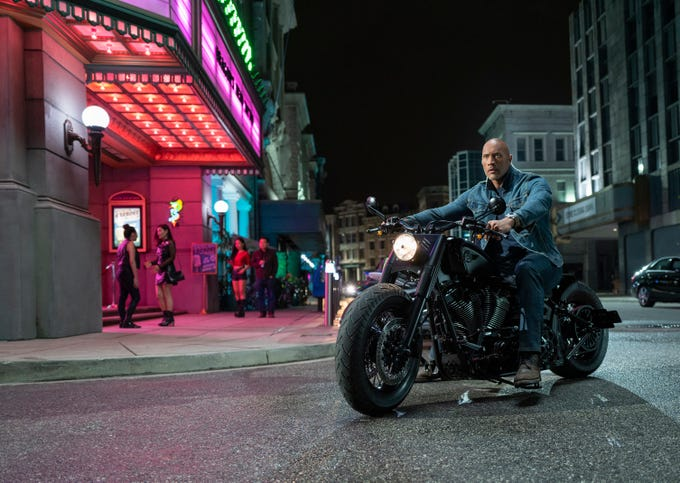 "Dwayne Johnson stars in ""Fast & Furious Presents: Hobbs & Shaw."""