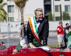 Cory McCloskey appears in the Phoenix St. Patrick's Day Parade on March 16, 2019.