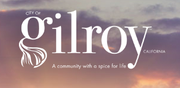 The logo for the City of Gilroy in California.