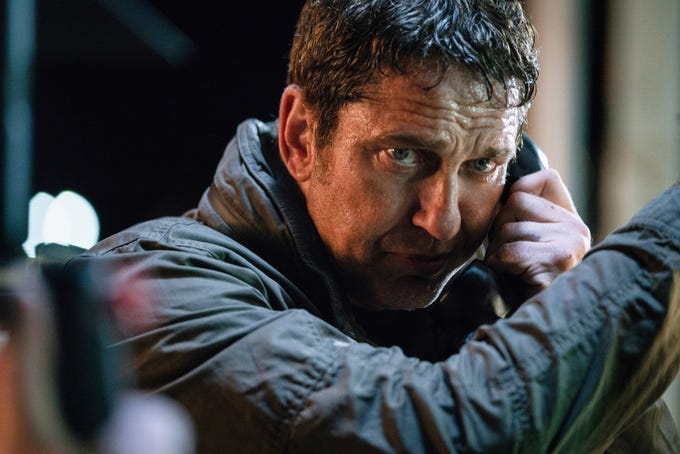 """In """"Angel Has Fallen,"""" Secret Service agent Mike Banning (Gerard Butler) is trying to outsmart the FBI."""