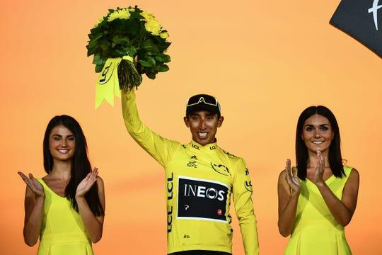 El ciclista colombiano Egan Bernal, campeón de la Tour de Francia.