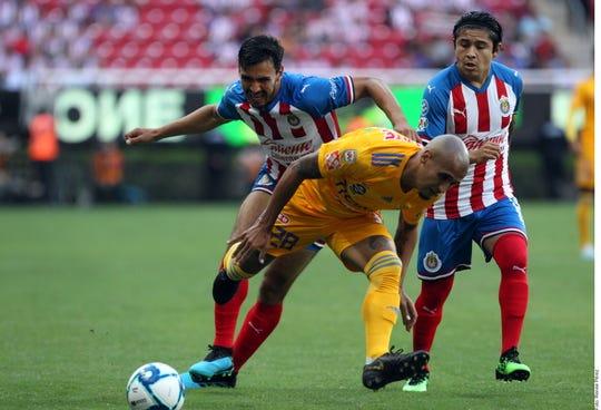 El partido entre Tigres y Chivas fue muy ríspido.