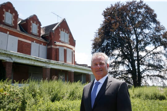 Martin G. Berger, managing member of SABER Real Estate Advisors, one of the parters redeveloping the former Hudson Valley Psychiatric Center into Hudson Heritage in the Town of Poughkeepsie on July 24, 2019. Hudson Heritage will be a mixed residential and commercial community on Route 9.