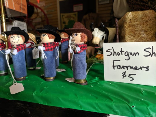 """Shotgun shell farmers"" for sale inside Old Line Museum in Delta, Pa."