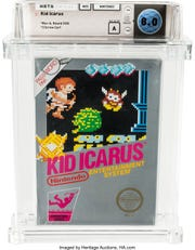 The front cover of Amos' copy of Kid Icarus, which had been unopened for more than 30 years.