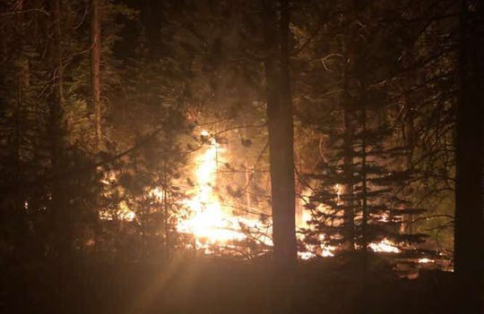 The McKay Butte Fire spread overnight to over 190 acres by Monday morning south of Bend.