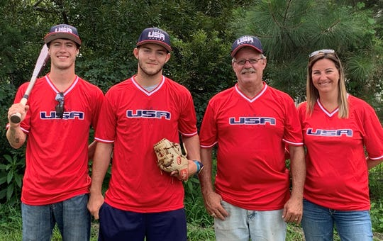 L-R: Trevor, Matt, Steve and Cynthia Reed will travel to the Dominican Republic as Matt Reed represent the United States at the Latin American Baseball Culture World Games.