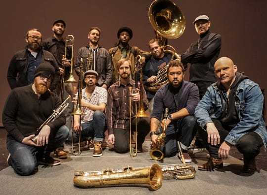 Lowdown Brass Band performs Thursday, Aug. 1, at the free Levitt AMP Sheboygan Music Series concert on the City Green.
