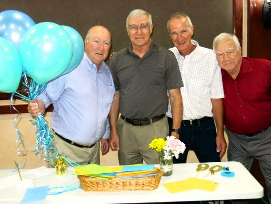 Gary Hayes, Larry Hayes, Bary Hayes and Dear Ole Dad Terry Hayes at Terry's 90th birthday party.