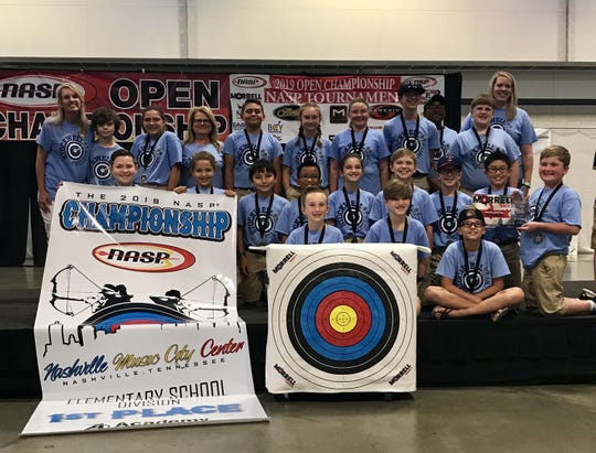 The Stockwell Elementary archery team won the 2019 NASP world title over the weekend.