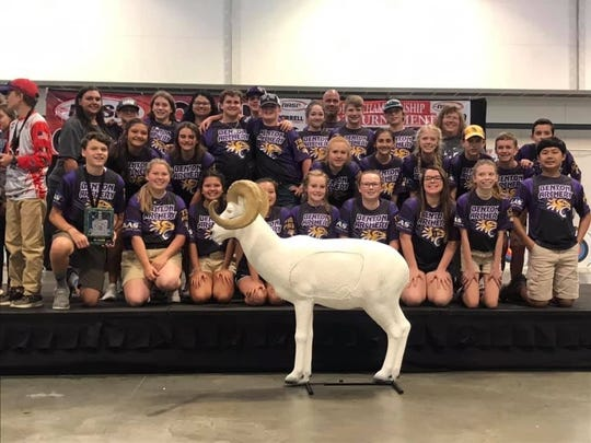 The Benton Middle School archery team captured two first places at the 2019 NASP World Championships.