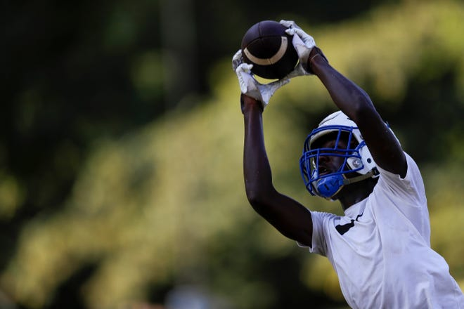 The Godby High School football team holds its first practice of the summer Monday, July 29, 2019.