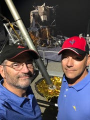 Brothers Dan and Steve Shaffer touring the Space & Rocket Center in Huntsville, Alabama on the 40th anniversary of the Apollo 11 landing.