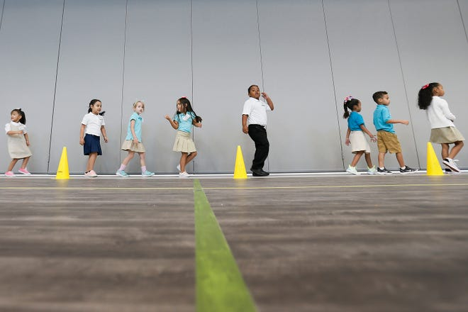 Cactus Trails Elementary first day of school Monday, July 29, in El Paso.