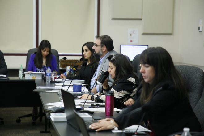 The El Paso City Council during a budget meeting on July 29.