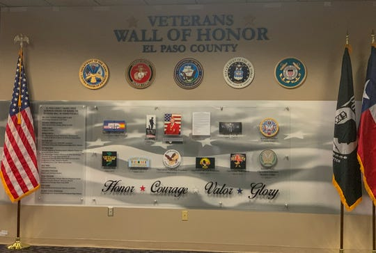 The Veterans Wall of Honor was revealed at the El Paso County Courthouse Monday, July, 22, 2019