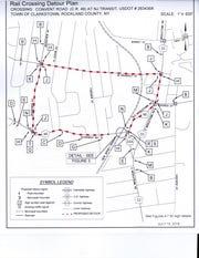 A rail crossing detour plan.