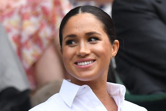 f05b96be17d89 Meghan, Duchess of Sussex, in the royal box at Wimbledon, July 13,