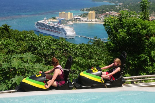Mystic Mountain offers a thrilling bobsled ride along a track offering sea views.