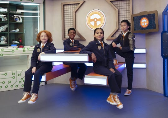 The new squad will be played by actors (from left) Gavin Maclver-Wright (Oswald), Jayce Alexander (Omar), Valentina Herrera (Opal),  andAlyssa Hidalgo (Orla).
