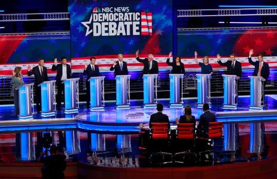 2020 Democratic presidential candidates in Miami on June 27, 2019.
