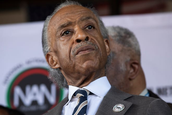 """The Rev. Al Sharpton's next book, """"Rise Up: Confronting a Country at the Crossroads,"""" will focus on the Obama and Trump eras."""