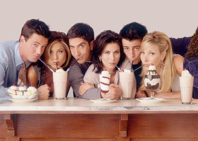"Starting in 1994, Matthew Perry, Jennifer Aniston, David Schwimmer, Courteney Cox Arquette, Matt LeBlanc and Lisa Kudrow were ""Friends"" Chandler Bing, Rachel Green, Ross Geller, Monica Geller, Joey Tribbiani and Phoebe Buffay."