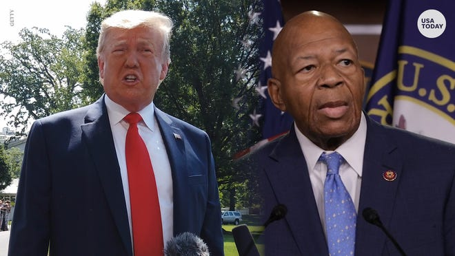 President Donald Trump slammed Rep. Elijah Cummings and his Baltimore-area congressional district in a series of tweets.