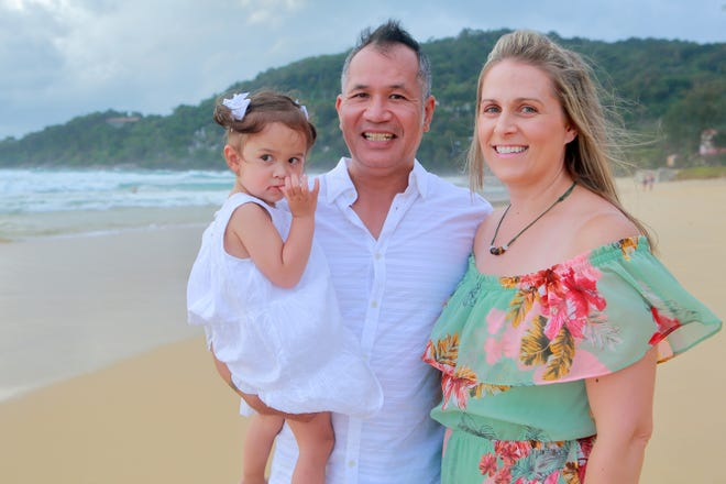Emma, Sothy and Lisa Kum spend time together in Thailand in August 2018 on Emma's second birthday. The family lived in Wisconsin when Sothy was deported to Cambodia in April 2018 after being convicted of possession of marijuana with intent to deliver.