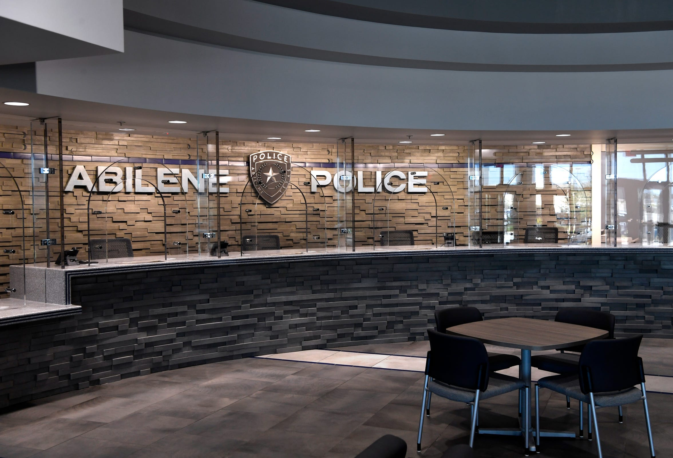 The counter at the new Law Enforcement Center, located at the former Kmart on South First Street.