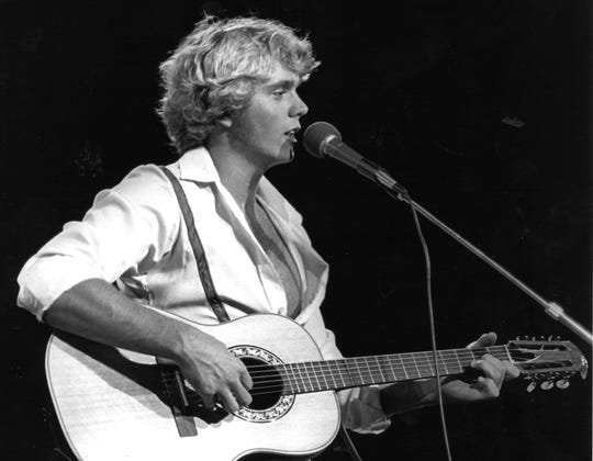 "A publicity shot of young John Schneider as a country singer stated he produced ""a sound that is between Barry Manilow and Kenny Rogers."" Or, you picked a fine time to leave me, Mandy ..."