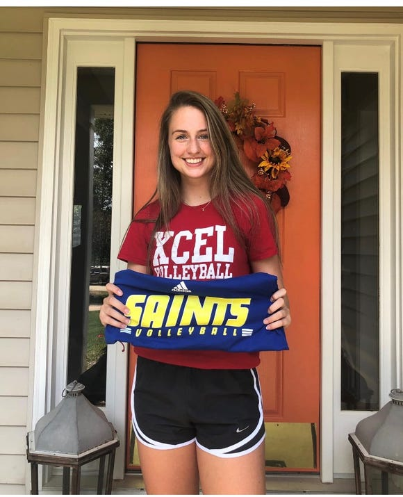 Kinsley Morgan, a senior volleyball player at West Henderson, has committed to Limestone College
